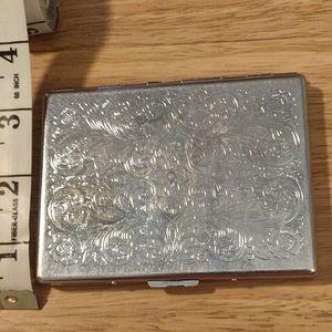 Designed Card Case - Silver